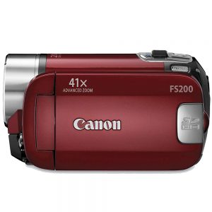 Red Canon Camcorder
