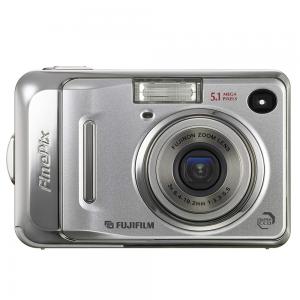 Silver handheld FujiFilm FinPix Digital Camera