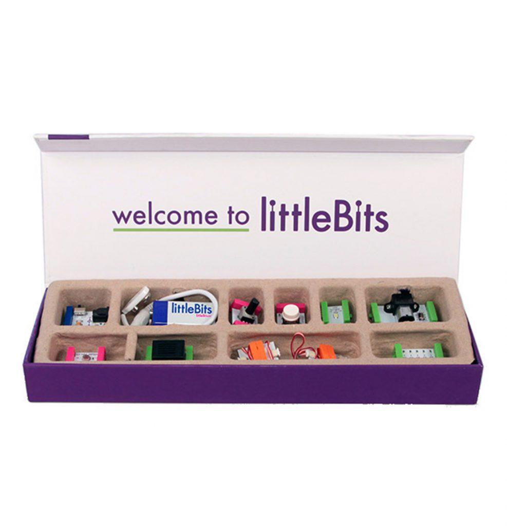 Purple box containing Little Bits equipment