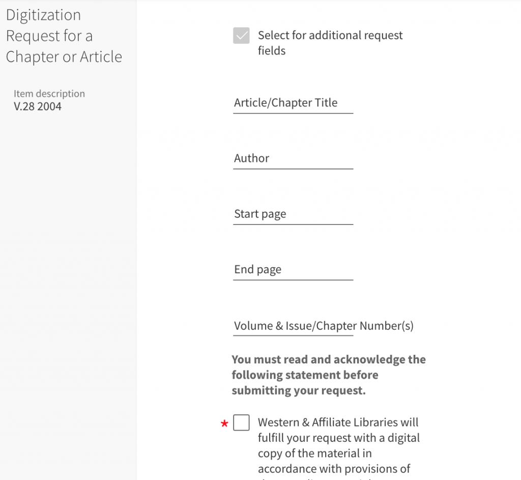 Check the box next to Select for additional request fields
